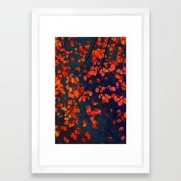 furious red leaves Framed Art Print