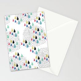 Rain Collage Stationery Cards