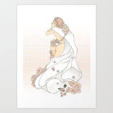 Nouveau Romance Art Print