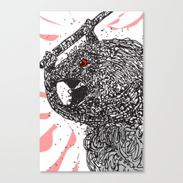 The horrible, horrible monster Canvas Print