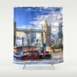 Tower Bridge and the City Shower Curtain
