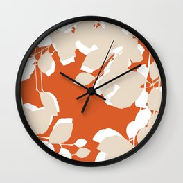 leaves rust and tan Wall Clock