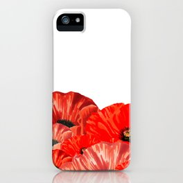 Poppies on White iPhone Case