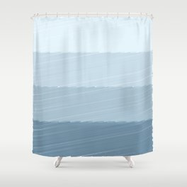 Blue Bars Shower Curtain