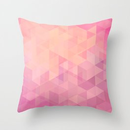 Geometric Pink  Throw Pillow