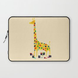 Paint by number giraffe Laptop Sleeve