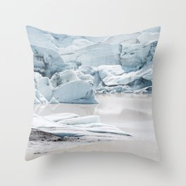 Icelandic lagoon in pastel blue Throw Pillow