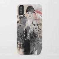 fashion illustration iPhone & iPod Cases featuring FASHION ILLUSTRATION 12 by Justyna Kucharska