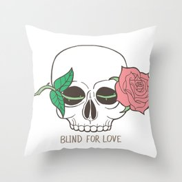 Blind For Love Throw Pillow