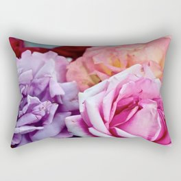 The Happiness of Roses Rectangular Pillow