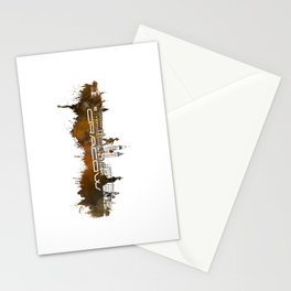 Cracow skyline city brown #cracow #skyline Stationery Cards