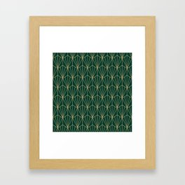 Art Deco Vector in Green and Gold Framed Art Print