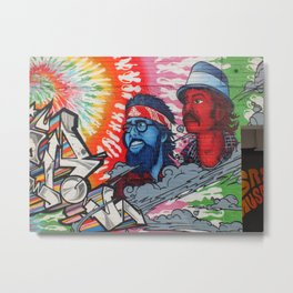 Cheech and Chong grafitti alley Queen Street flower power haze Metal Print