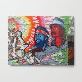 Cheech and Chong grafitti alley Queen Street flower power haze Metal Print