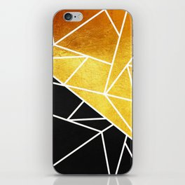 Coal and Gold iPhone Skin