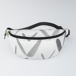 Watercolor V's - Grey Gray Fanny Pack