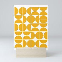 Mid Century Modern Geometric 04 Yellow Mini Art Print