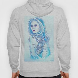 Tattoo Blue Hoody