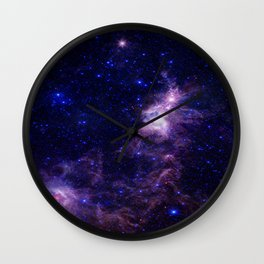 gAlAXY Purple Blue Wall Clock