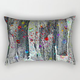 Not Just Another Face In The Crowd Painting Rectangular Pillow