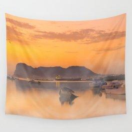 Golden Sunrise Wall Tapestry