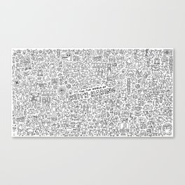 THE FUN WOLRD of KEITH HARRING Canvas Print