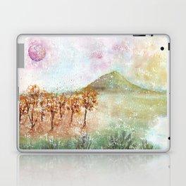 Watercolor Pink Moon Landscape Laptop & iPad Skin