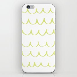 Citron Green Waves iPhone Skin