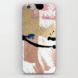 01014: pink, gold, and white abstract iPhone Skin