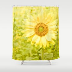 Smiling sunflower Shower Curtain