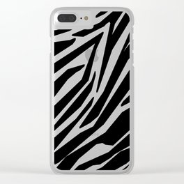 Zebra Black and White Pattern Clear iPhone Case