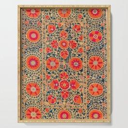 Kermina Suzani Uzbekistan Print Serving Tray