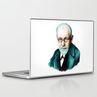 freud Laptop & iPad Skins featuring SIGMUND FREUD by Coco Dávez
