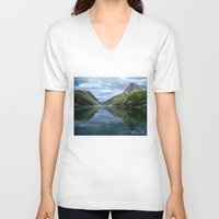 norway V-neck T-shirts featuring Rondane - Rondevannet  Norway by AstridJN