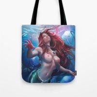 ariel Tote Bags featuring Ariel by abraaolucas