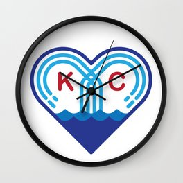 Kansas City Fountain Heart Wall Clock