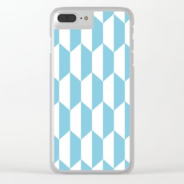 Classic Trapezoid Pattern 731 Blue Clear iPhone Case