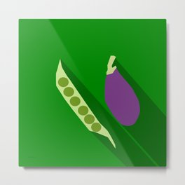 Vegetable Pick Game Icon Metal Print