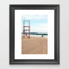 Off Duty Framed Art Print