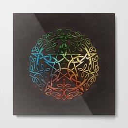 Elemental Celtic Pentacle Pentagram Metal Print