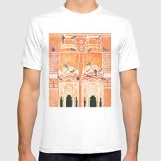 Salmon Palace Mens Fitted Tee White MEDIUM