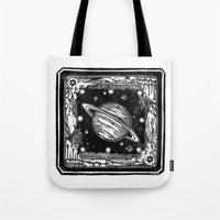saturn Tote Bags featuring Saturn by Ouizi - Los Angeles