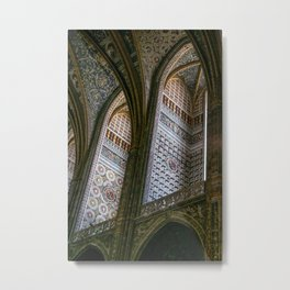 Albi Cathedral, Albi,Languedoc, France. Metal Print