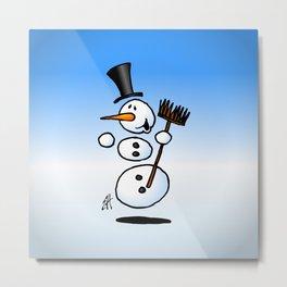 Dancing snowman Metal Print