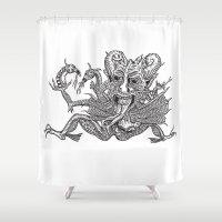 satan Shower Curtains featuring SaTaN by Kurz Daniel