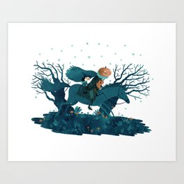 tricking and treating Art Print
