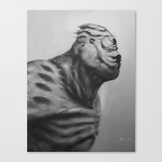 A monster we call Monday Canvas Print