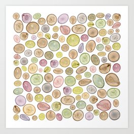 Tree Rings Art Print