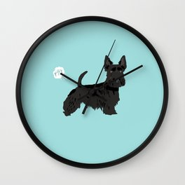 scottish terrier scotties funny farting dog breed pure breed pet gifts Wall Clock