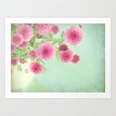 colorful spring Art Print